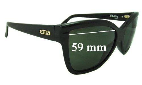 Sunglass Fix Sunglass Replacement Lenses for Otis Ruby - 59mm wide