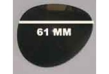 Sunglass Fix Sunglass Replacement Lenses for Police 8333G - 61mm Wide