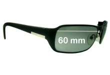 Sunglass Fix Sunglass Replacement Lenses for Prada SPR52FS (PR52FS) - 60mm Wide