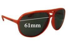 Sunglass Fix Sunglass Replacement Lenses for Prada SPR09M - 61mm Wide