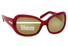 Sunglass Fix Sunglass Replacement Lenses for Prada SPR13F - 58mm Wide