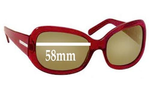 Sunglass Fix Sunglass Replacement Lenses for Prada SPR13F - 58mm wide lens