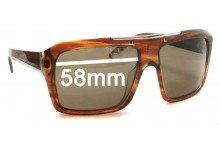 Sunglass Fix Sunglass Replacement Lenses for Prada SPR13L - 58mm Wide