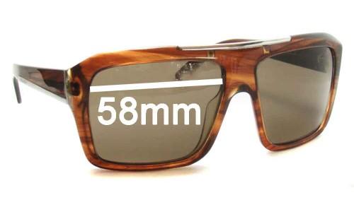 Sunglass Fix Sunglass Replacement Lenses for Prada SPR13L - 58mm wide lens