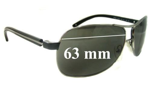 Sunglass Fix Sunglass Replacement Lenses for Prada SPR59L - 63mm Wide