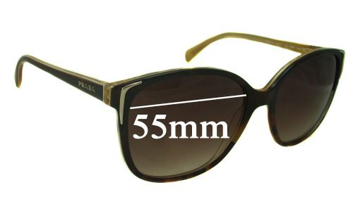 Sunglass Fix Sunglass Replacement Lenses for Prada SPR01O - 55mm wide