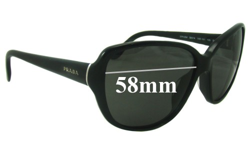 Sunglass Fix Sunglass Replacement Lenses for Prada SPR05M - 58mm Wide