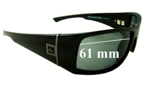 Sunglass Fix Sunglass Replacement Lenses for Quiksilver Transition - 61mm Wide