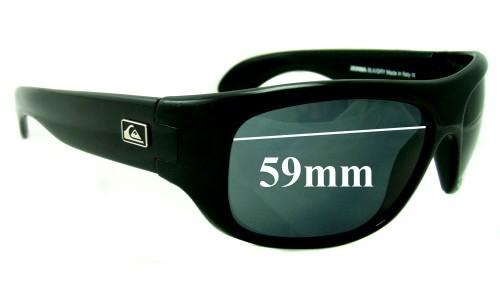 Sunglass Fix Sunglass Replacement Lenses for Quiksilver Zorba - 59mm Wide