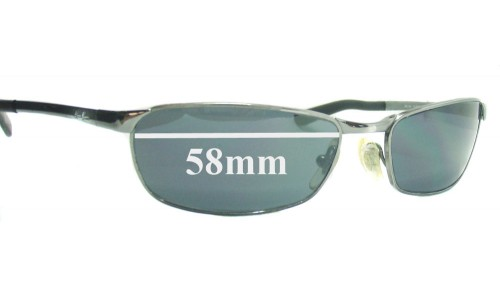 Sunglass Fix Sunglass Replacement Lenses for Ray Ban RB3190 - 58mm Wide