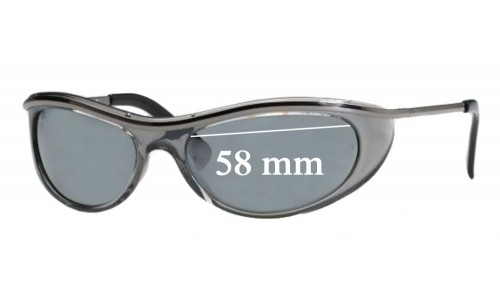 Sunglass Fix Sunglass Replacement Lenses for Ray Ban OLYMPIA EXTREME RB4031 - 58mm Wide
