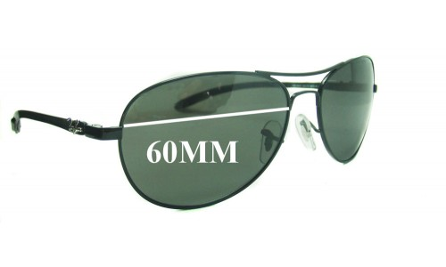 Sunglass Fix Sunglass Replacement Lenses for Ray Ban RB8301 TECH 60mm Sunglass Replacement Lenses  *Please measure as there are several models*