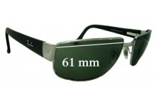 Sunglass Fix Sunglass Replacement Lenses for Ray Ban RB3189 - 61mm Wide