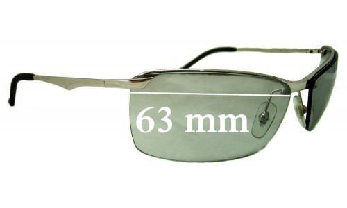 Sunglass Fix Sunglass Replacement Lenses for Ray Ban RB3359 - 63mm Wide