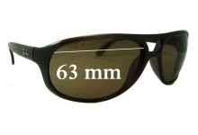Sunglass Fix Sunglass Replacement Lenses for Ray Ban RB4124 - 63mm Wide