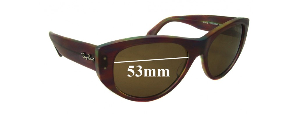 Sunglass Fix Sunglass Replacement Lenses for Ray Ban RB4152 Vagabond - 53mm Wide