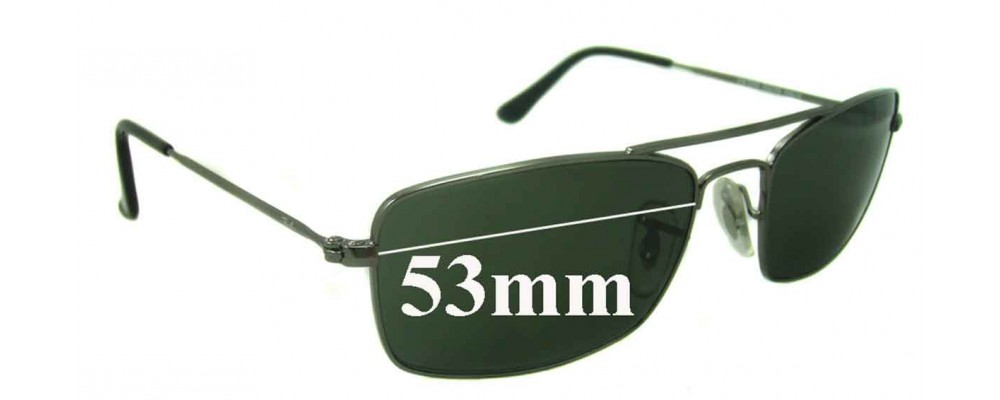 Sunglass Fix Sunglass Replacement Lenses for Ray Ban RB3309 - 53mm Wide