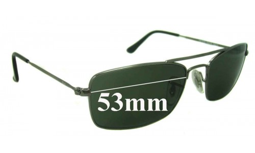 Sunglass Fix Sunglass Replacement Lenses for Ray Ban RB3309 53mm