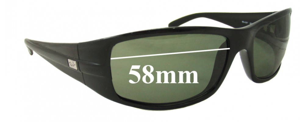 607b5e5c6e6 Ray Ban RB4057 Sunglass Replacement Lenses - 58mm Wide
