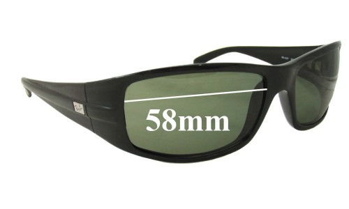 Sunglass Fix Sunglass Replacement Lenses for Ray Ban RB4057 - 58mm Wide
