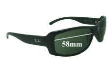Sunglass Fix Sunglass Replacement Lenses for Ray Ban RB4088 - 58mm Wide