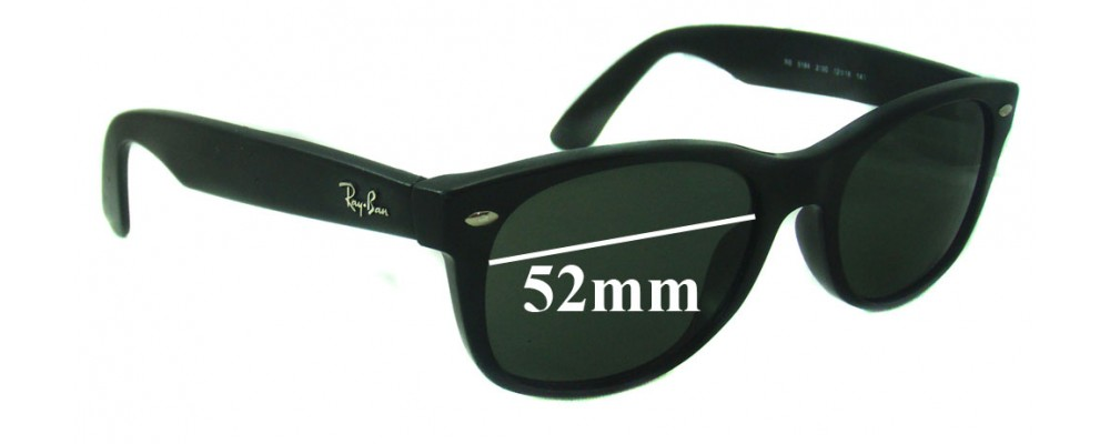 Sunglass Fix Sunglass Replacement Lenses for Ray Ban RB5184 - 52mm Wide