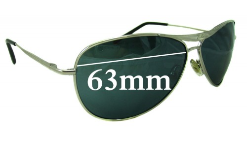 Sunglass Fix Sunglass Replacement Lenses for Ray Ban RB8015  - 63mm wide