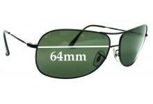 Sunglass Fix Sunglass Replacement Lenses for Ray Ban RB3267 - 64mm Wide
