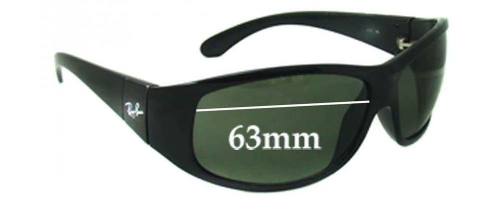 Sunglass Fix Sunglass Replacement Lenses for Ray Ban RB4110 - 63mm Wide