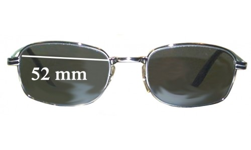 Sunglass Fix Sunglass Replacement Lenses for Ray Ban W2320 Bausch Lomb - 52mm wide