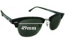 Sunglass Fix Sunglass Replacement Lenses for Ray Ban Clubmaster RB5154 - 49mm Wide x 37.5mm Tall * Please measure as there are multiple sizes *