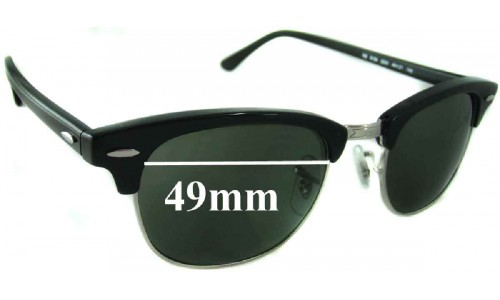 Sunglass Fix Sunglass Replacement Lenses for Ray Ban Clubmaster RB5154 - 49mm wide x 37.5mm high * Please measure as there are multiple sizes *