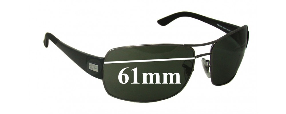 cf45acfcd9 Sunglass Fix Sunglass Replacement Lenses for Ray Ban RB3426 - 61mm Wide