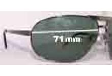 Sunglass Fix Sunglass Replacement Lenses for Salvatore Ferragamo 1124 - 71mm Wide
