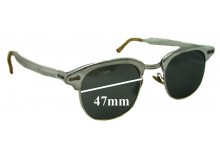 Sunglass Fix Sunglass Replacement Lenses for Shuron - 47mm Wide