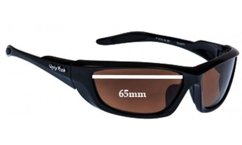 Sunglass Fix Sunglass Replacement Lenses for Ugly Fish P6733 - 65mm Wide