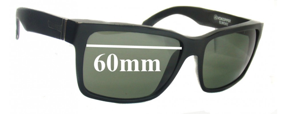 23f6d666ead Sunglass Fix Sunglass Replacement Lenses for Von Zipper Elmore -60mm wide