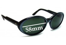 Sunglass Fix Sunglass Replacement Lenses for Vuarnet Pouilloux REF074 - 58mm Wide