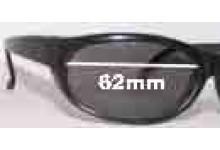 Sunglass Fix Sunglass Replacement Lenses for Vuarnet Pouilloux - 62mm Wide x 38mm Tall