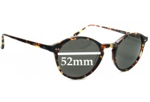 Sunglass Fix Sunglass Replacement Lenses for Anglo American Optical Mod 406 - 52mm Wide