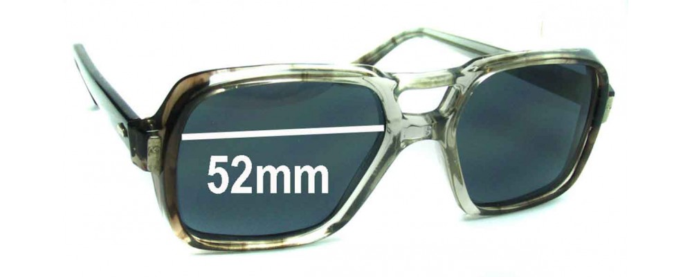 Sunglass Fix Sunglass Replacement Lenses for AOCO 145 - 52mm Wide