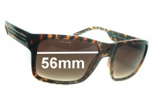 Sunglass Fix Sunglass Replacement Lenses for Armani Exchange AX 238/S - 56mm Wide