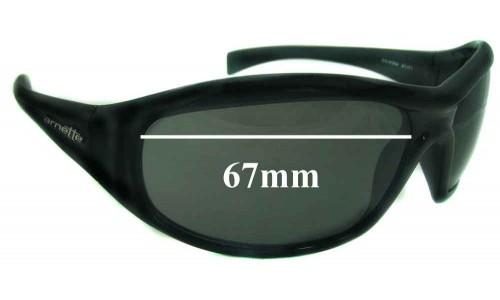 Sunglass Fix Sunglass Replacement Lenses for Arnette AN4054 - 67mm Wide