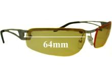 Sunglass Fix Sunglass Replacement Lenses for Arnette Fakie AN3010 - 64mm Wide