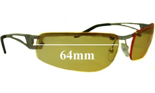 Sunglass Fix Sunglass Replacement Lenses for AN3010 Arnette Fakie - 64mm wide