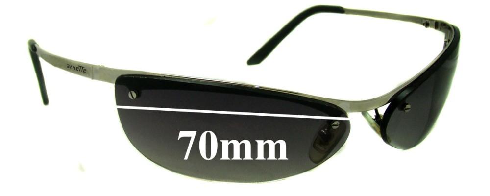 Sunglass Fix Replacement Lenses for Arnette Grasshopper AN3011 - 70mm Wide