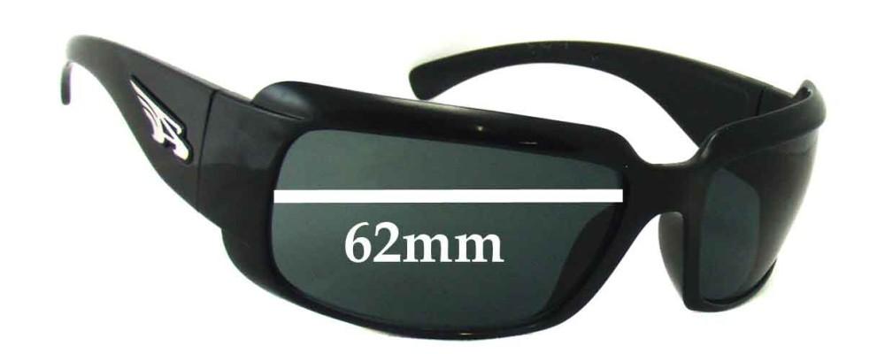 Sunglass Fix Sunglass Replacement Lenses for Arnette Infamous AN4076 - 62mm Wide