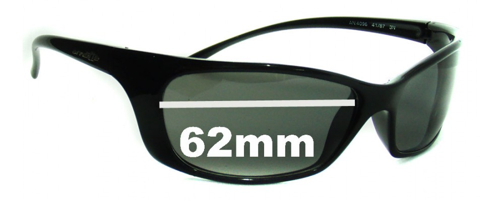 Sunglass Fix Replacement Lenses for Arnette Psycho AN4096 - 62mm Wide