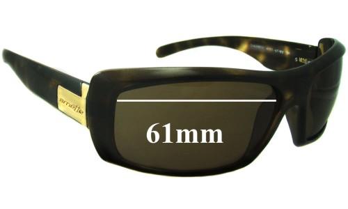 Sunglass Fix Sunglass Replacement Lenses for Arnette Chamber AN4111 - 61mm Wide