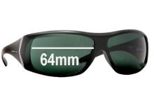 Sunglass Fix Sunglass Replacement Lenses for Arnette Cypher AN4092 - 64mm Wide